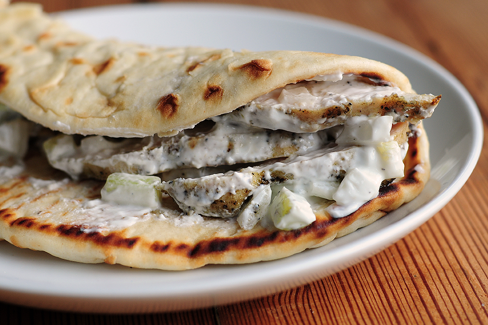 recipe: chicken souvlaki sandwich [3]