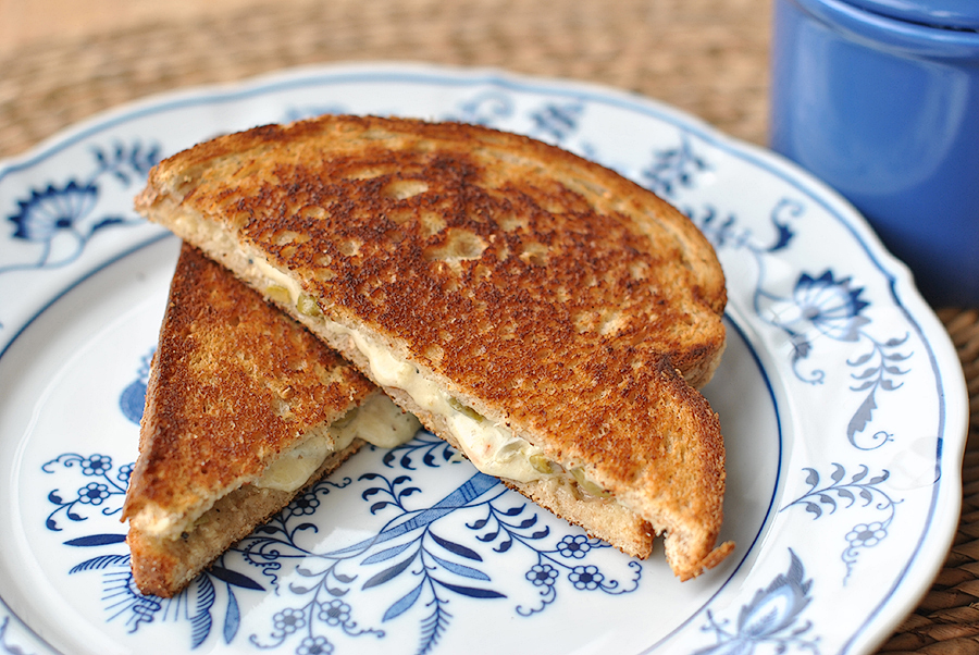 Tasty Kitchen Blog: Posh Pimento Grilled Cheese. Guest post by Maggy Keet of Three Many Cooks, recipe from Three Many Cooks and inspired by TK member amaddux.