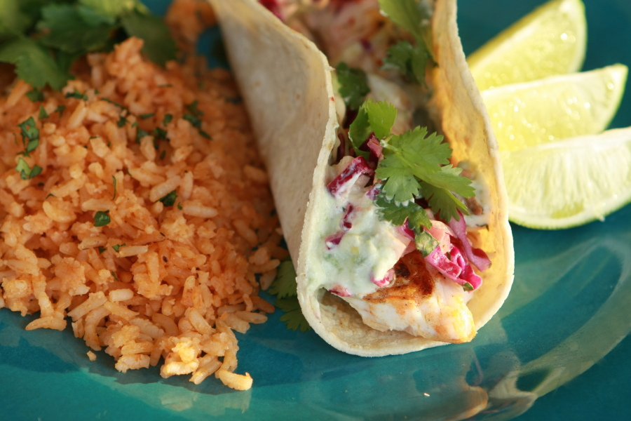 Tasty Kitchen Blog: Spicy Grilled Fish Tacos. Guest post by Calli Taylor of Make It Do, recipe submitted by TK member John Dawson of Patio Daddio BBQ.