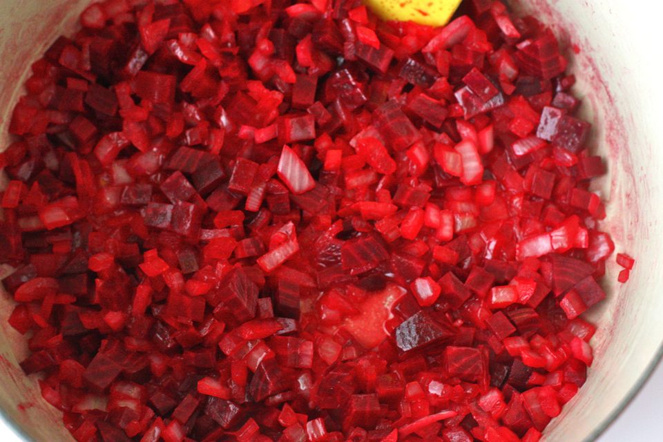 Tasty Kitchen Blog: Beet Risotto with Goat Cheese. Guest post by Jenna Weber of Eat, Live, Run; recipe submitted by TK member Amanda of Once Upon a Recipe.