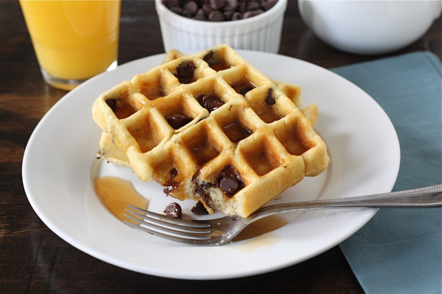 Tasty Kitchen Blog: Chocolate Chip Waffles. Guest post by Maria Lichty of Two Peas and Their Pod, recipe submitted by TK member Robyn Stone of Add A Pinch.