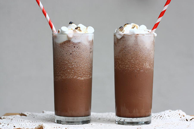 Tasty Kitchen Blog: Frozen Hot Chocolate. Guest post by Adrianna Adarme of A Cozy Kitchen, recipe submitted by TK member Cindi (wehearawho) of Mama Foodie.
