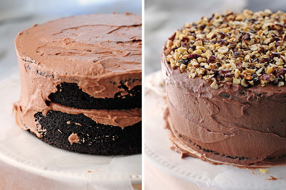 and chocolate layer cake chocolate hazelnut layer cake of chocolate ...