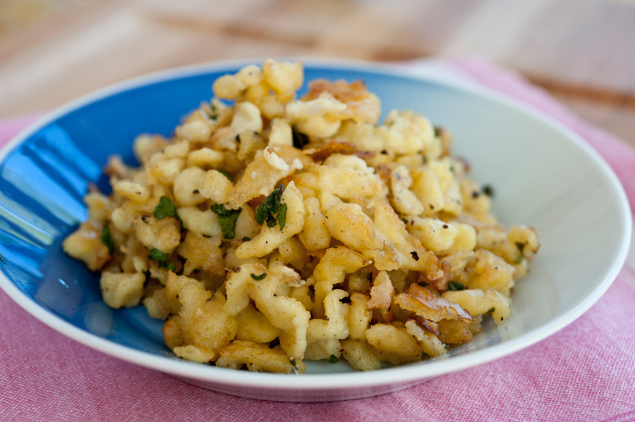 Tasty Kitchen Blog: Homemade Spaetzle. Guest post by Georgia Pellegrini, recipe submitted by TK member Candi of All Day Night.
