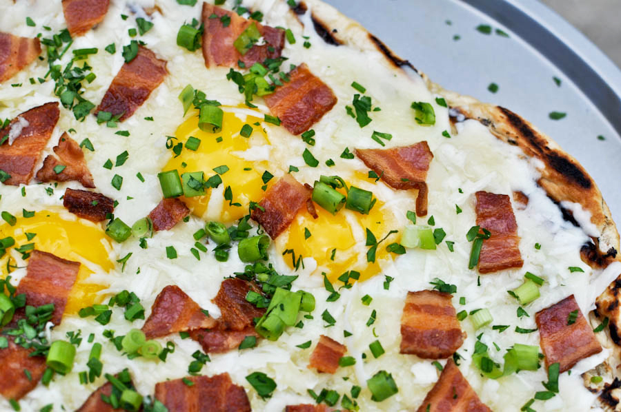 Tasty Kitchen Blog: Grilled Breakfast Pizza. Guest post by Jessica Merchant of How Sweet It Is, recipe submitted by TK member Adrianna Adarme of A Cozy Kitchen.