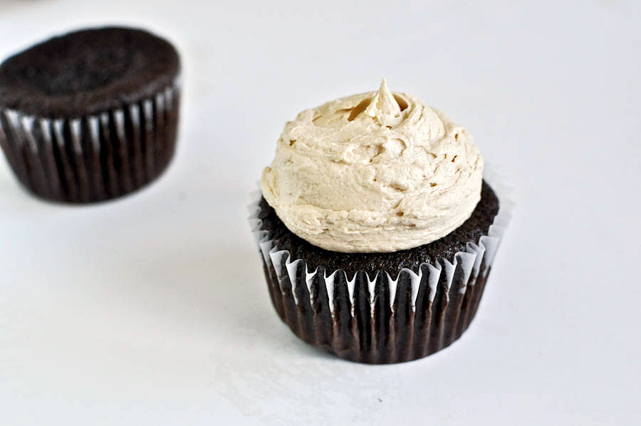 Tasty Kitchen Blog: Peanut Butter Stuffed Hot Fudge Cupcakes. Guest post and recipe from Jessica Merchant of How Sweet It Is.
