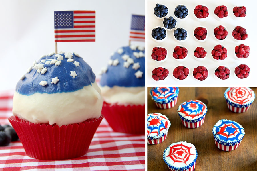 Tasty Kitchen Blog: Red, White and Blue (Cupcakes)