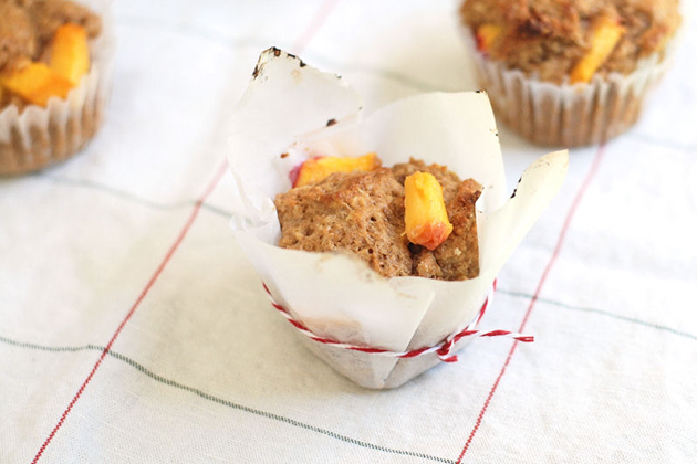 Tasty Kitchen Blog Peachy-keen Muffins. Guest post by Erica Kastner of Cooking for Seven, recipe submitted by TK member Karalie.