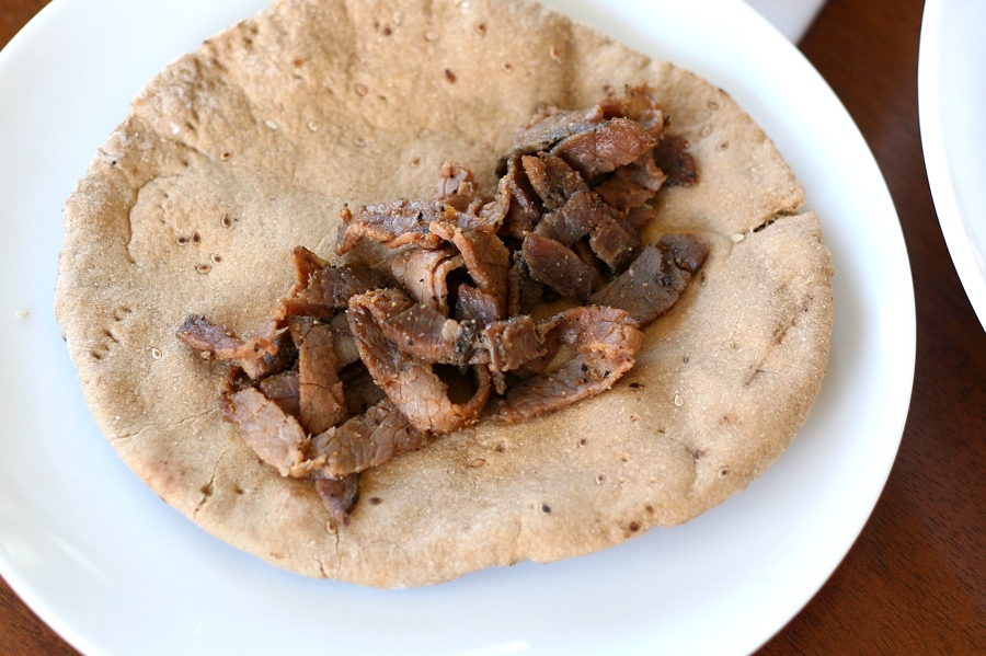 Tasty Kitchen Blog: Easy and Fast Greek Gyros. Guest post by Natalie Perry of Perry's Plate, recipe submitted by TK member Whitney Stephens (misswhit85).