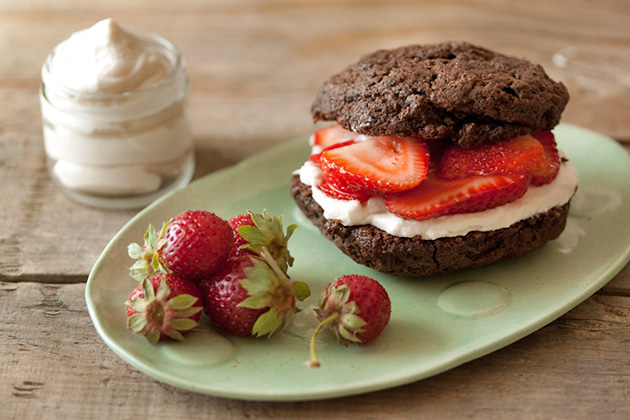 Tasty kitchen Blog: Chocolate Strawberry Shortcakes. Guest post by Gaby Dalkin of What's Gaby Cooking, recipe submitted by TK member Jackie Dodd of Domestic Fits.