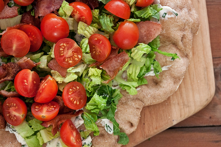 Tasty Kitchen Blog: BLT Pizza. Guest post by Gaby Dalkin of What's Gaby Cooking, recipe submitted by TK member Ramona of Curry and Comfort.