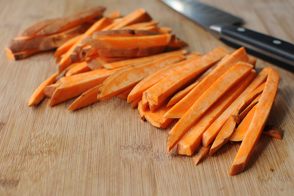 Tasty Kitchen Blog: Baked Sweet Potato Fries. Guest post by Amy Johnson of She Wears Many Hats, recipe submitted by TK member Caitlin (maude10).
