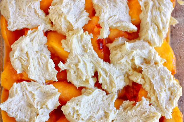 Tasty Kitchen Blog: The Yummiest Peach Cobbler. Guest post by Jenna Weber of Eat, Live, Run; recipe submitted by TK member Kim (CountryCookinMama) of But Mama, I'm Hungry!