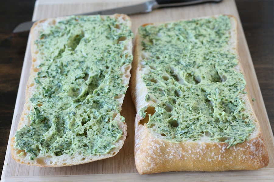 Tasty Kitchen Blog: Basil Butter Garlic Bread. Guest post by Maria Lichty of Two Peas and Their Pod, recipe submitted by TK member Jenna (kitchenlovenest) of Jenna's Everything Blog.
