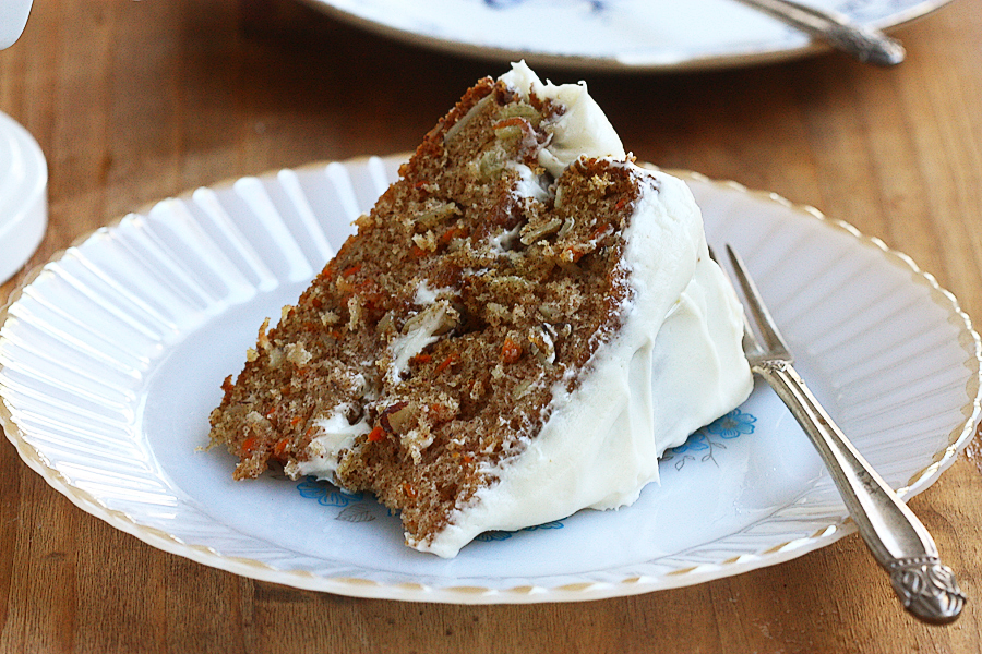Tasty Kitchen Blog: Best Carrot Cake of All Time. Guest post by Adrianna Adarme of A Cozy Kitchen, recipe submitted by TK members Katy and Christine (kpurwin) of Young and Hungry.