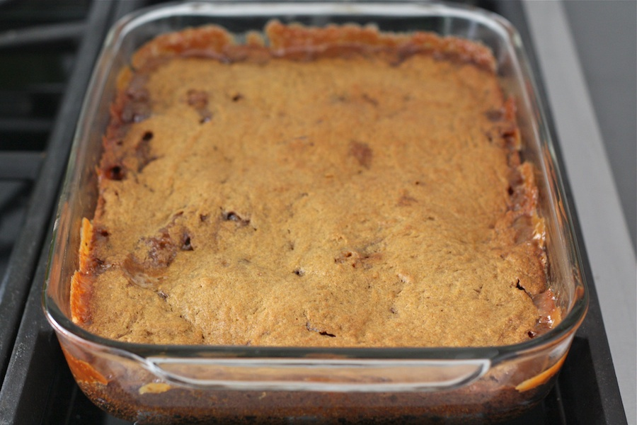 Tasty Kitchen Blog: Ooey Gooey Caramel Pumpkin Blondies with Chocolate and Walnuts. Guest post by Maria Lichty of Two Peas and Their Pod, recipe submitted by TK member Lauren of Lauren's Latest.