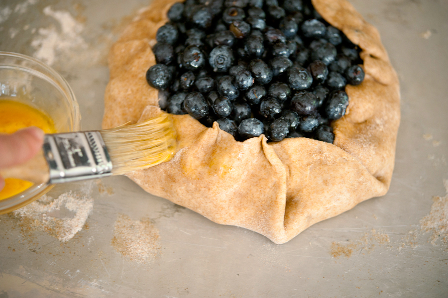 Tasty Kitchen Blog Blueberry Brie Galette. Guest post by Georgia Pellegrini, recipe submitted by TK member Natalie of Perry's Plate.