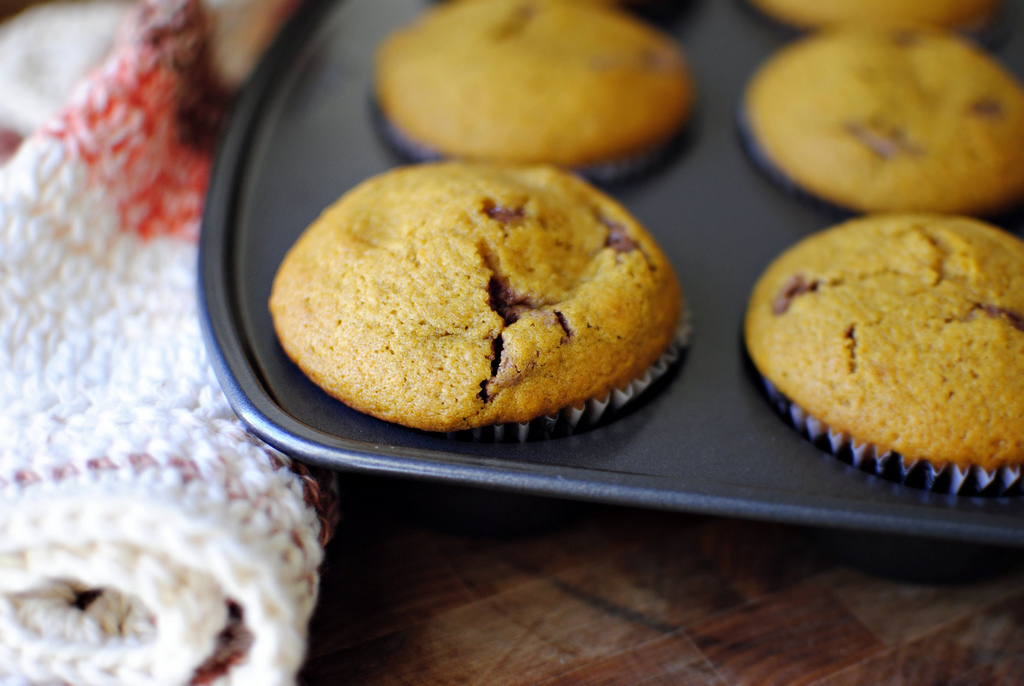 Tasty Kitchen Blog: Nutella Cheesecake Pumpkin Muffins. Guest post by Laurie McNamara of Simply Scratch, recipe submitted by TK member Amy of My Name is Snickerdoodle.