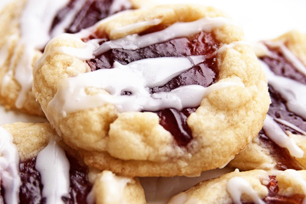 Tasty Kitchen Blog: Cookies for You (Amy's Raspberry Almond Thumbprint Cookies from TK member CarenG)