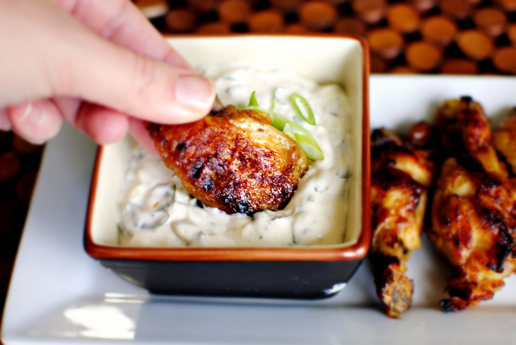 Tasty Kitchen Blog: Spicy Citrus Spicy Wings with Cilantro Dripping Sauce. Guest post by Laurie McNamara of Simply Scratch, recipe submitted by TK member Sarah of Life is Still Sweet.