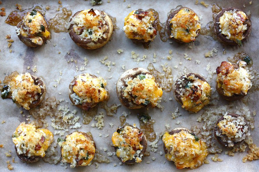 Tasty Kitchen Blog: Stuffed Mushrooms. Guest post by Adrianna Adarme of A Cozy Kitchen, recipe submitted by TK member Kelly of Evil Shenanigans.