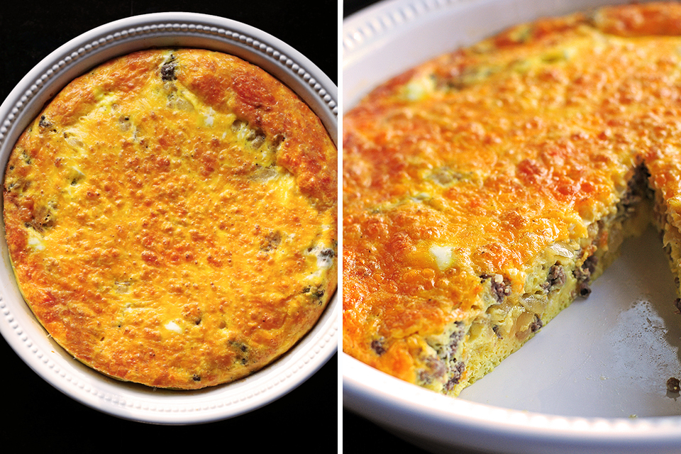 Tasty Kitchen Blog: Cheeseburger Frittata. Guest post and recipe from Amy Johnson of She Wears Many Hats.