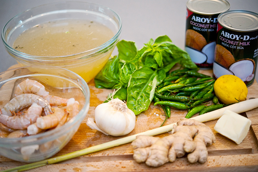 Tasty Kitchen Blog: Spicy Thai Coconut Shrimp Soup. Guest post by Georgia Pellegrini, recipe submitted by TK member Jackie of Domestic Fits.