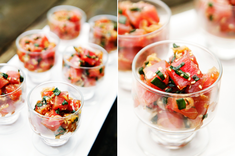Tasty Kitchen Blog: Hawaiian Ahi Poke. Guest post by Alice Currah of Savory Sweet Life, recipe submitted by TK member Sommer of A Spicy Perspective.