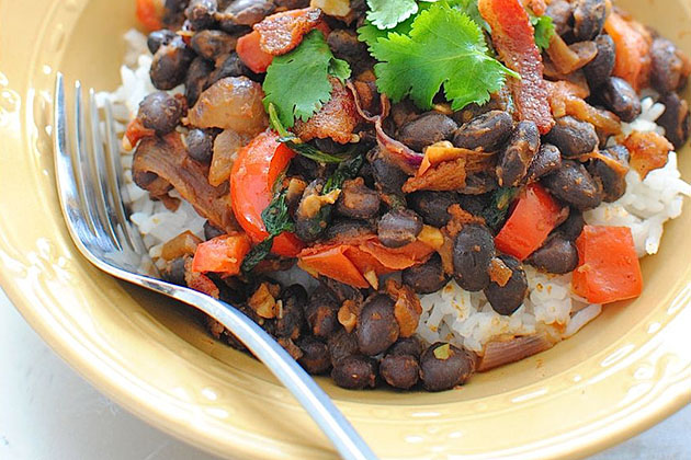 Simple Black Beans and Rice