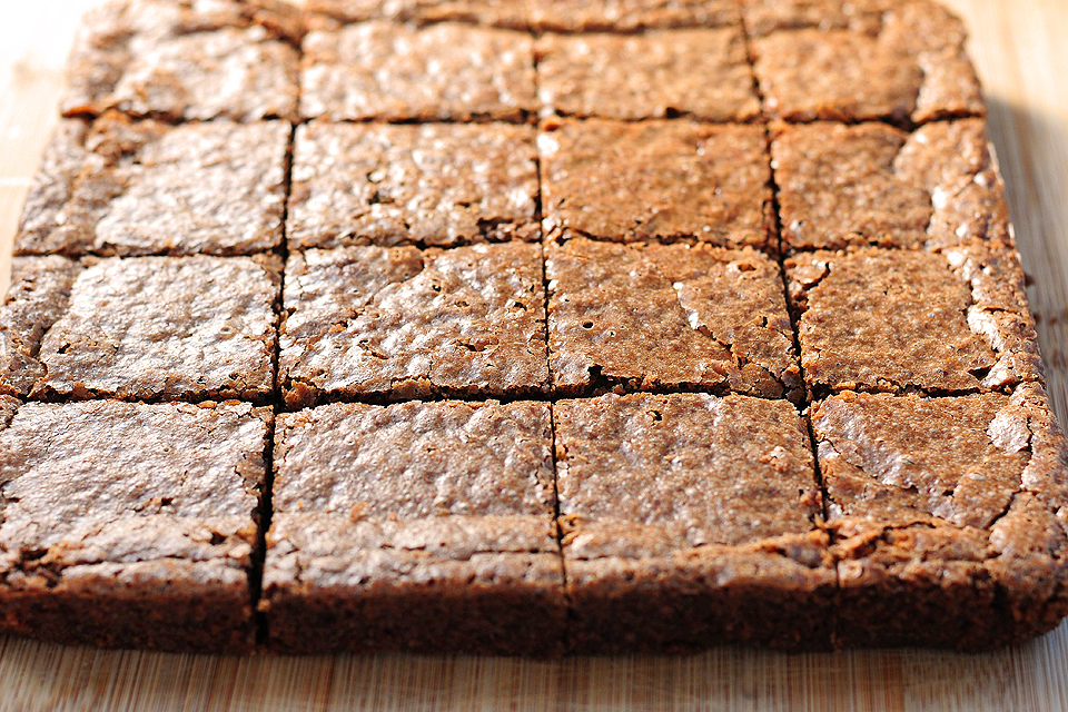 Tasty Kitchen Blog: Flourless Chocolate Brownie. Guest post and recipe from Amy Johnson of She Wears Many Hats, adapted from Nigella Lawson.