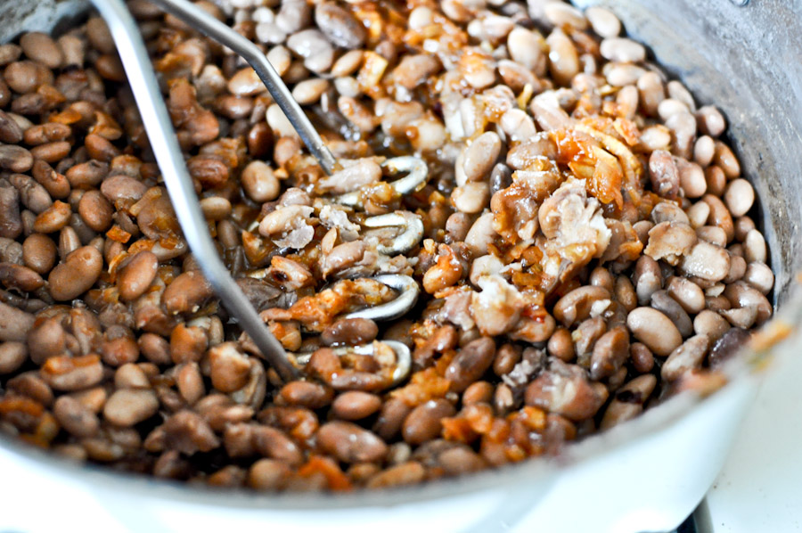 Tasty Kitchen Blog: Homemade Refried Beans. Guest post by Jessica Merchant of How Sweet It Is, recipe submitted by TK member Julie of Table for Two.