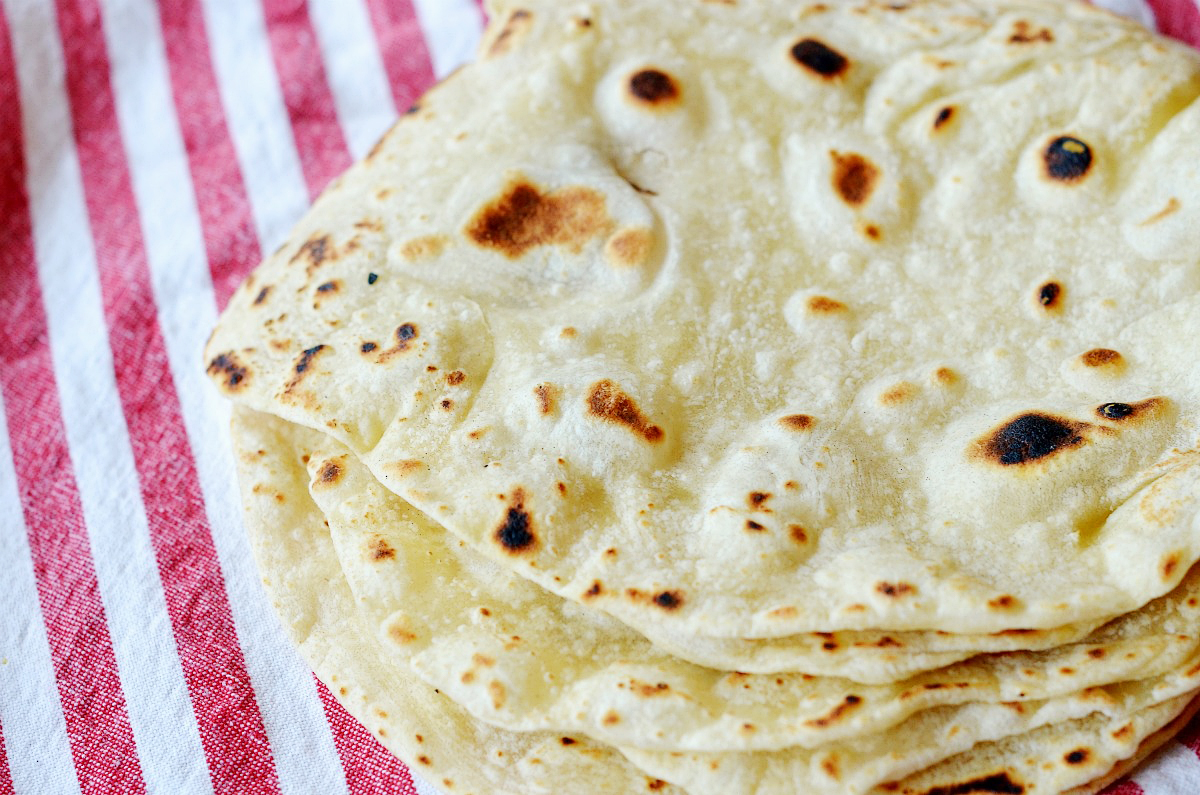 Tasty Kitchen Blog: Healthy Homemade Tortillas. Guest post by Maggy Keet of Three Many Cooks, recipe submitted by TK member KGSouthernComfort of Life in the A-Frame.