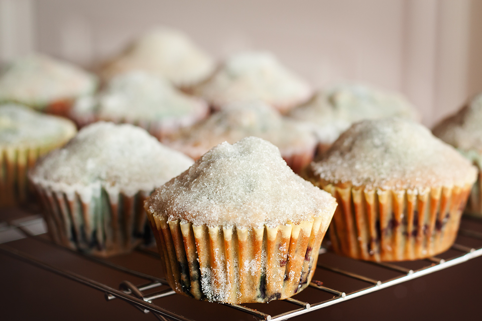 Tasty Kitchen Blog: Lemon Blueberry Crunch Muffins. Guest post by Amber Potter of Sprinkled with Flour, recipe submitted by TK member Jill of Miss Delish.