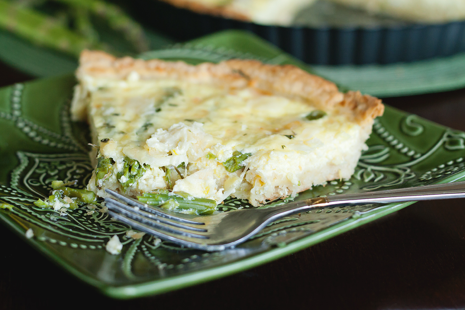 Tasty Kitchen Blog: Skillet Asparagus Tart. Guest post by Amber Potter of Sprinkled with Flour, recipe submitted by TK member Claire of A Realistic Nutritionist.
