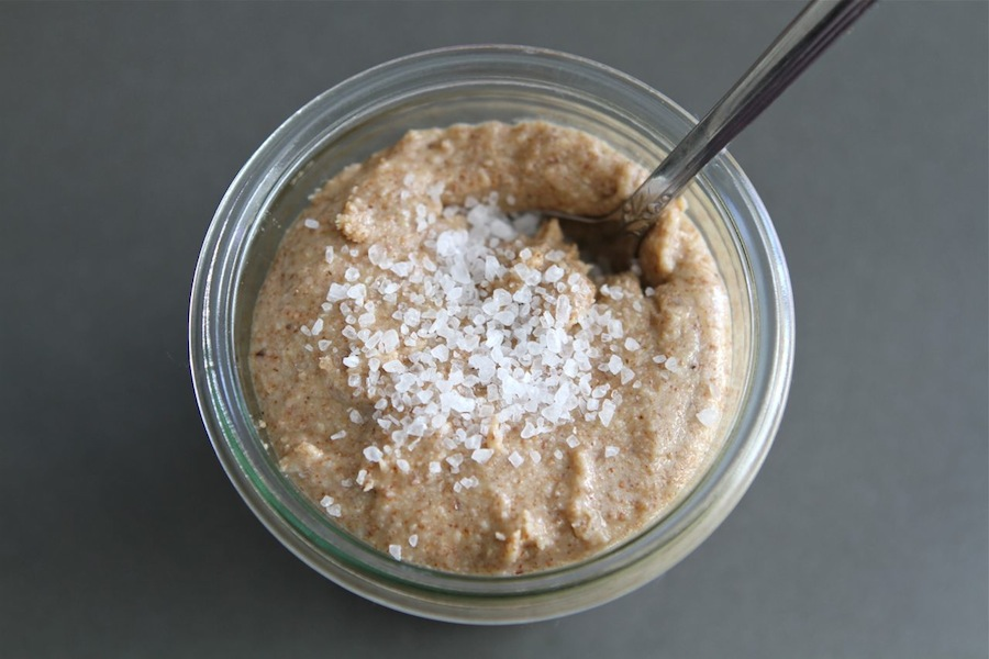 Tasty Kitchen Blog: Sea Salt and Honey Almond Butter. Guest post by Maria Lichty of Two Peas and Their Pod, recipe submitted by TK member Erin of Naturally Ella.