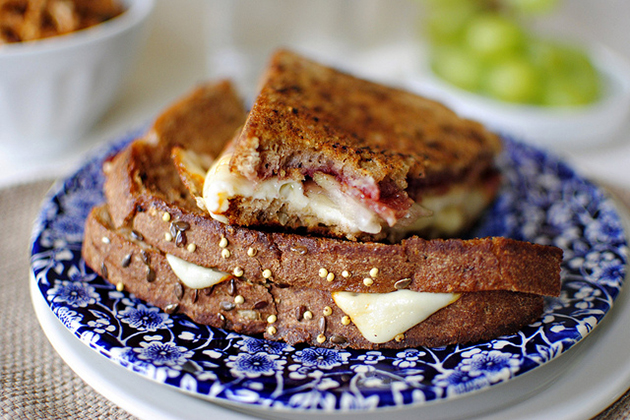 Tasty Kitchen Blog: Bacon, Pear & Raspberry Grilled Cheese. Guest post by Laurie McNamara of Simply Scratch, recipe submitted by TK member Lindsay of Pinch of Yum.
