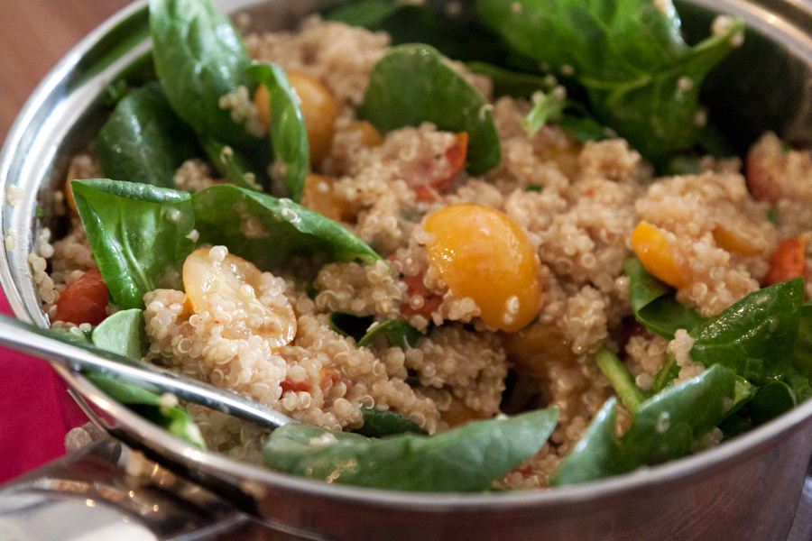Tasty Kitchen Blog: Quinoa Salad with Roasted Tomatoes and Avocado. Guest post by Gaby Dalkin of What's Gaby Cooking, recipe submitted by TK member Kelsey of K&K Test Kitchen.
