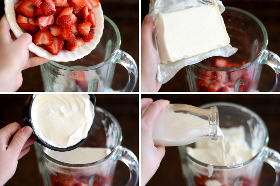 Tasty Kitchen Blog: Strawberry Cheesecake Ice Cream. Guest post by Erica Kastner of Cooking for Seven, recipe submitted by TK member Josie of Daydreamer Desserts.