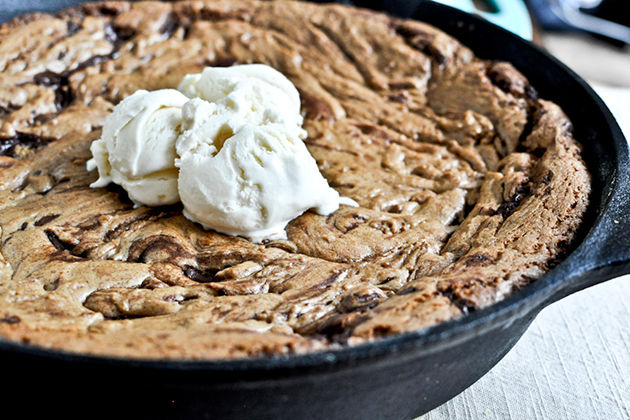 Tasty Kitchen Blog: Chocolate Chip Skillet Cookie. Guest post by Jessica Merchant of How Sweet It Is, recipe submitted by TK member Jaime of Sophistimom.