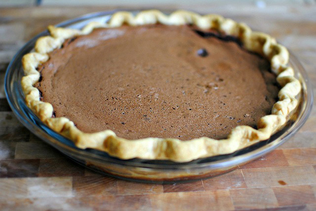 Tasty Kitchen Blog: Easy Chocolate Pie. Guest post by Laurie McNamara of Simply Scratch, recipe submitted by TK member Sissy of Out on a Limb.