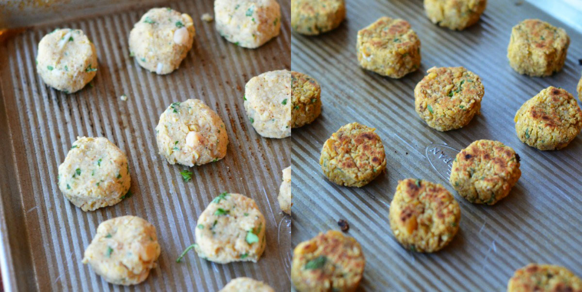 Tasty Kitchen Blog: Baked Falafel Pita. Guest post by Maggy Keet of Three Many Cooks, recipe submitted by TK member Jane (janecooks).