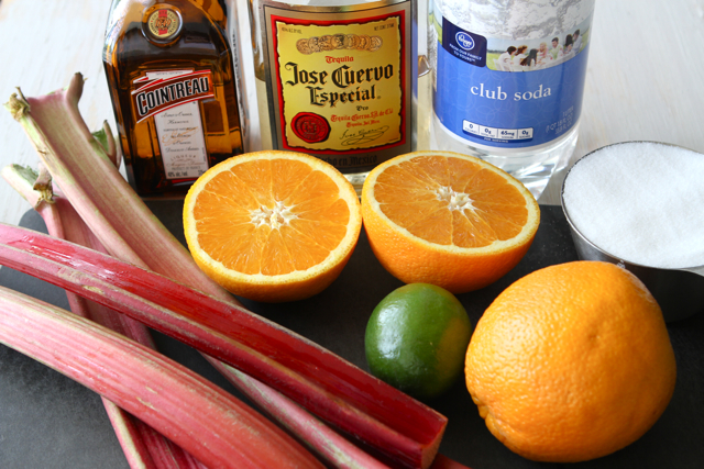 Tasty Kitchen Blog: Rhubarb Margaritas. Guest post by Dara Michalski of Cookin' Canuck, recipe submitted by TK member Gaby Dalkin of What's Gaby Cooking.