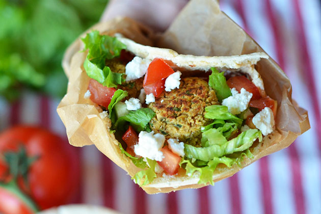 Baked Falafel Pita Tasty Kitchen Blog