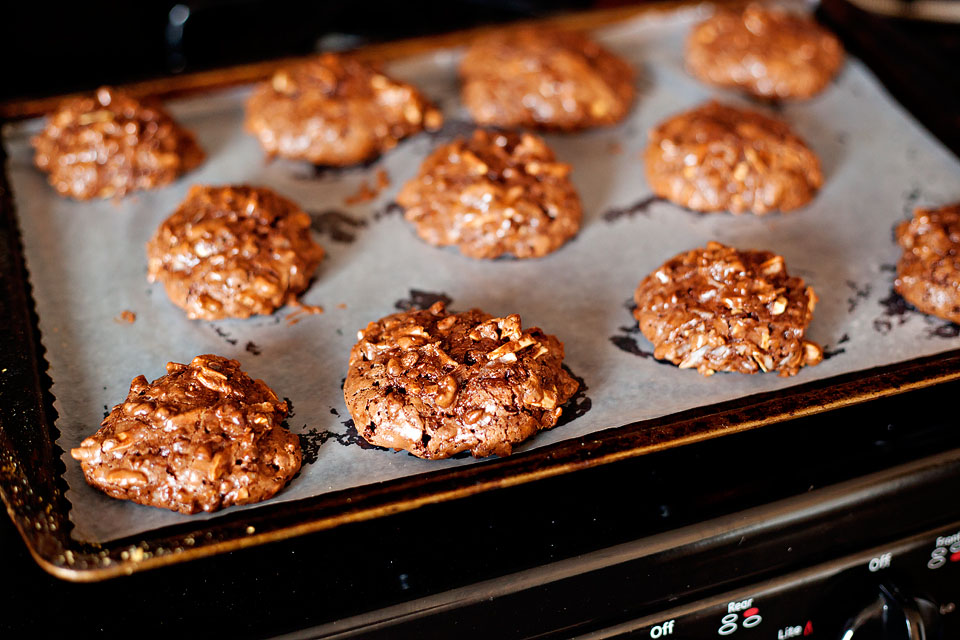 Tasty Kitchen Blog: Flourless Chocolate Almond and Coconut Cookies. Guest post by Amber Potter of Sprinkled with Flour, recipe submitted by TK member Courtney of Bake. Eat. Repeat.