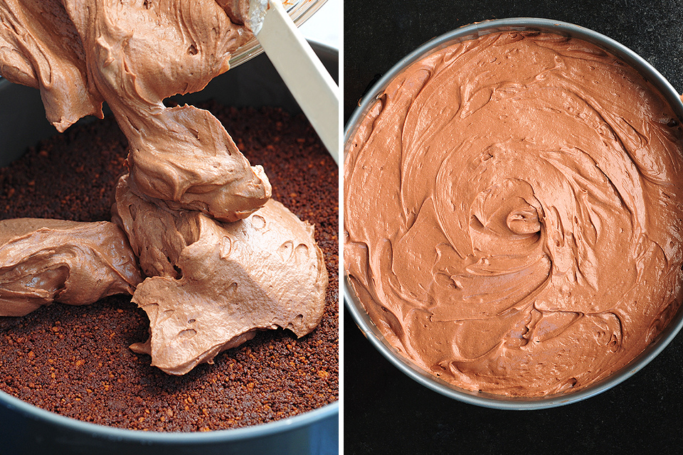 Tasty Kitchen Blog: No-Bake Chocolate Cheesecake. Guest post by Amy Johnson of She Wears Many Hats, recipe submitted by TK member Anna of Crunchy Creamy Sweet.