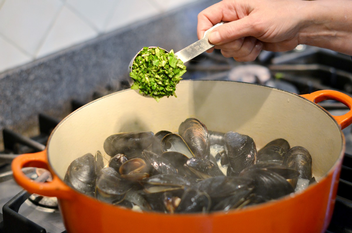 Tasty Kitchen Blog: Thai Coconut Mussels. Guest post by Maggy Keet of Three Many Cooks, recipe submitted by TK member Lisa of One Cook, Two Kitchens.