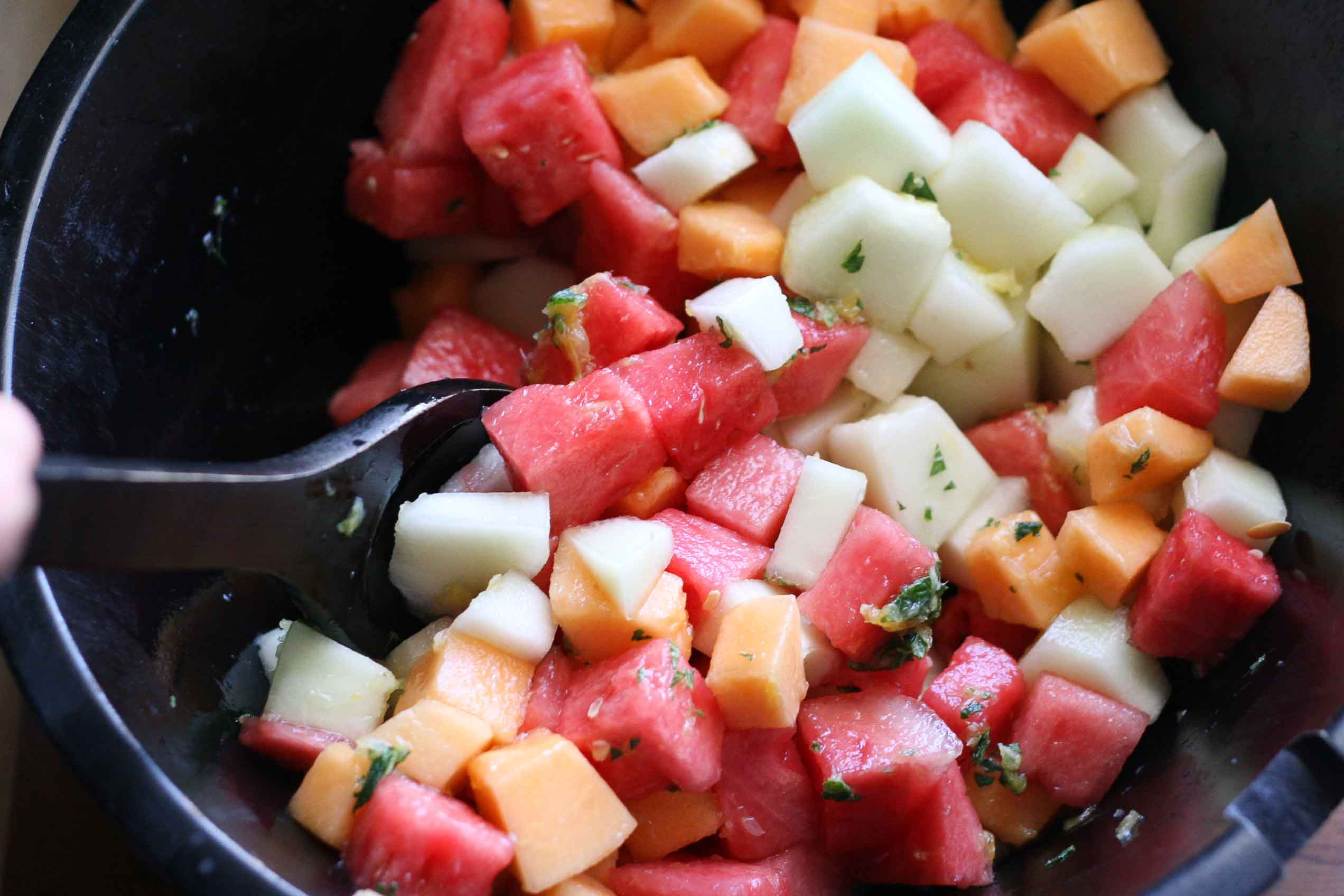 Tasty Kitchen Blog: Melon Salad. Guest post and recipe submitted by Natalie Perry of Perry's Plate.