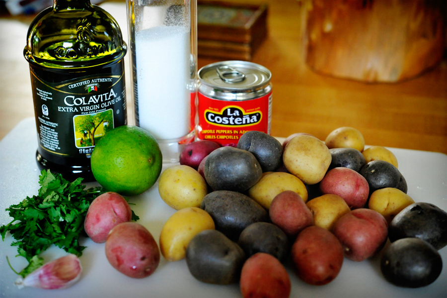 Tasty Kitchen Blog: Chipotle and Lime Roasted Potatoes. Guest post by Georgia Pellegrini, recipe submitted by TK member Meredith of Cooking In Sock Monkey Slippers.