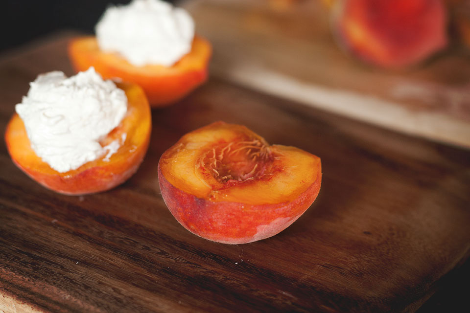 Tasty Kitchen Blog: Grilled Peaches with Honey Ginger Cream Cheese Fluff. Guest post by Amber Potter of Sprinkled with Flour, recipe submitted by Jessica of A Kitchen Addiction.