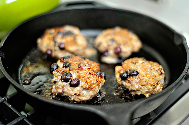 Tasty Kitchen Blog: Maple Blueberry Breakfast Sausage. Guest post by Georgia Pellegrini, recipe submitted by TK member Hailey of Hail's Kitchen.